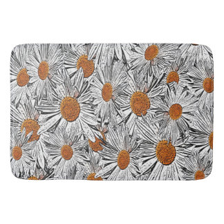 Orange Centered Daisies Bath Mat
