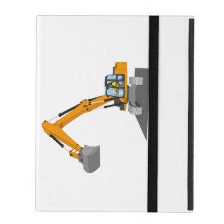 orange chain excavator iPad cover