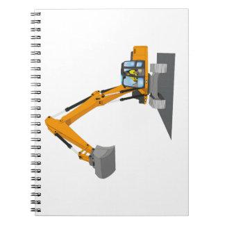 orange chain excavator notebooks