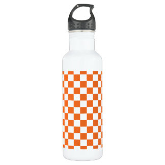 Orange Checkerboard 710 Ml Water Bottle