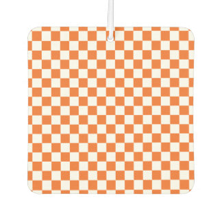 Orange Checkerboard Car Air Freshener