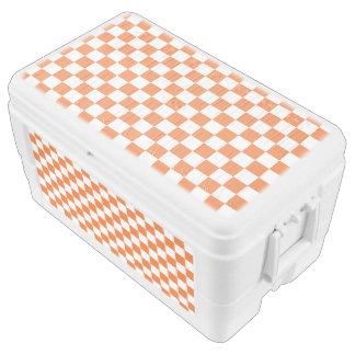 Orange Checkerboard Chest Cooler