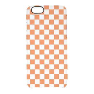 Orange Checkerboard Clear iPhone 6/6S Case