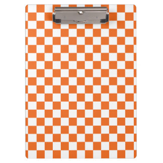 Orange Checkerboard Clipboard