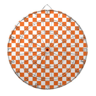 Orange Checkerboard Dartboard