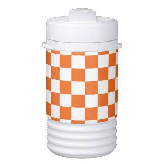Orange Checkerboard Drinks Cooler