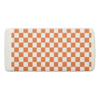 Orange Checkerboard Eraser