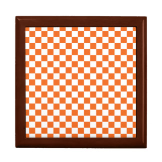 Orange Checkerboard Gift Box