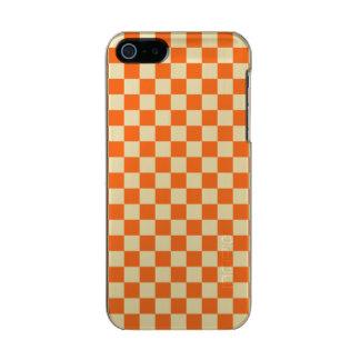 Orange Checkerboard Incipio Feather® Shine iPhone 5 Case
