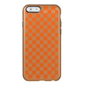 Orange Checkerboard Incipio Feather® Shine iPhone 6 Case