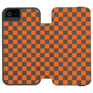 Orange Checkerboard Incipio Watson™ iPhone 5 Wallet Case