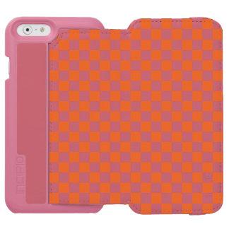 Orange Checkerboard Incipio Watson™ iPhone 6 Wallet Case