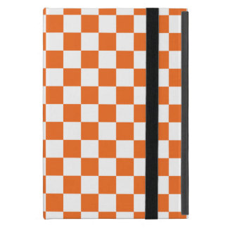 Orange Checkerboard iPad Mini Case