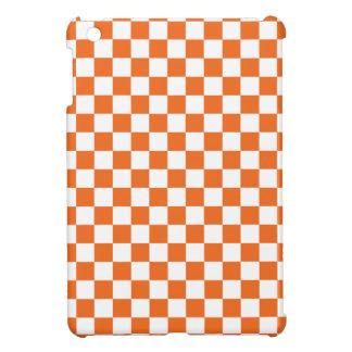 Orange Checkerboard iPad Mini Cases