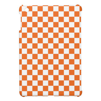 Orange Checkerboard iPad Mini Cover