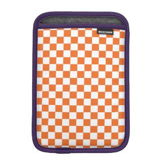 Orange Checkerboard iPad Mini Sleeve
