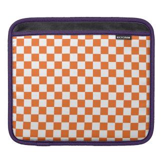 Orange Checkerboard iPad Sleeve