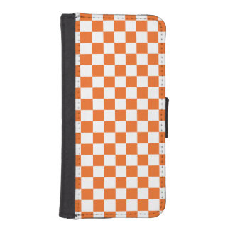 Orange Checkerboard iPhone SE/5/5s Wallet Case