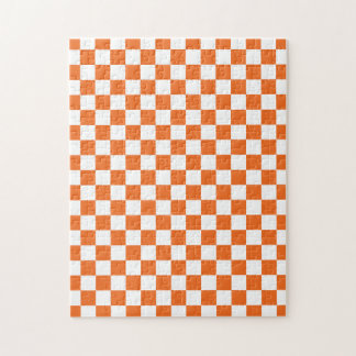 Orange Checkerboard Jigsaw Puzzle