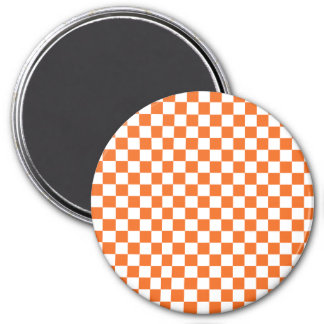 Orange Checkerboard Magnet