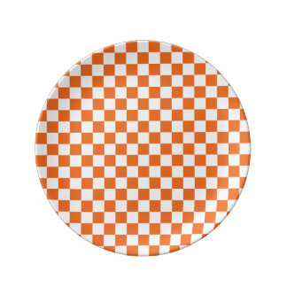 Orange Checkerboard Plate