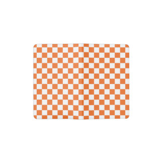 Orange Checkerboard Pocket Moleskine Notebook