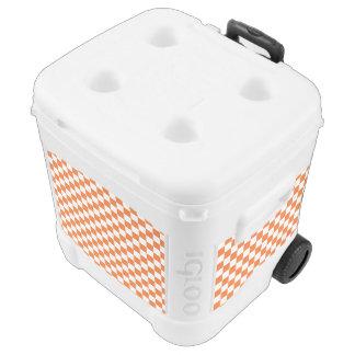 Orange Checkerboard Rolling Cooler