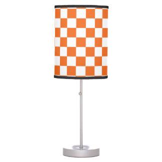 Orange Checkerboard Table Lamp
