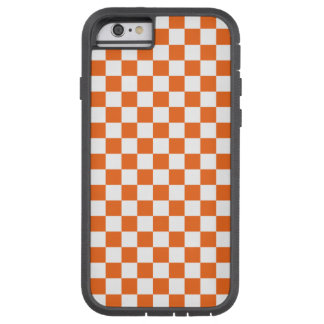 Orange Checkerboard Tough Xtreme iPhone 6 Case