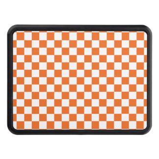 Orange Checkerboard Trailer Hitch Cover