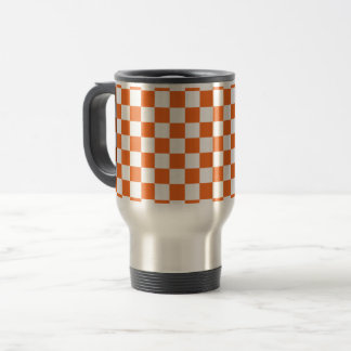 Orange Checkerboard Travel Mug