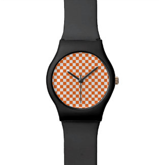 Orange Checkerboard Watch