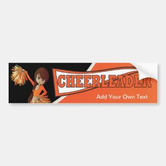 Orange Cheerleader Bumper Sticker