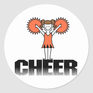 Orange Cheerleading T-shirts and Gifts Classic Round Sticker