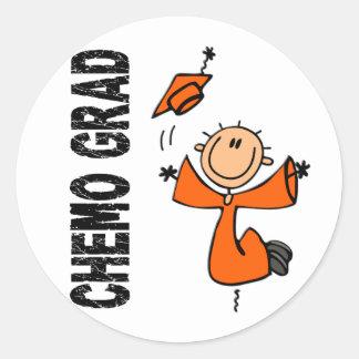 Orange CHEMO GRAD 1 (Leukemia) Round Sticker