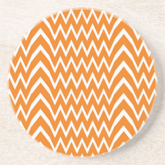 Orange Chevron Illusion Coaster