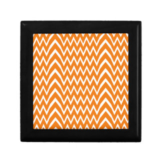 Orange Chevron Illusion Gift Box