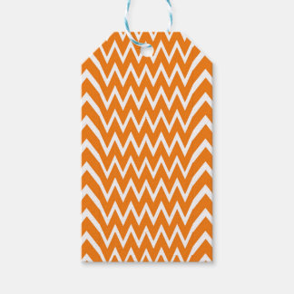 Orange Chevron Illusion Gift Tags