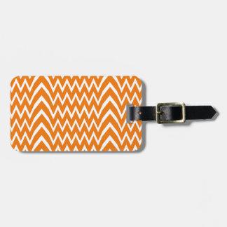 Orange Chevron Illusion Luggage Tag