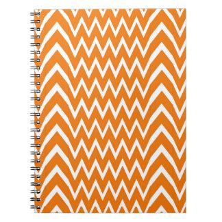 Orange Chevron Illusion Notebooks