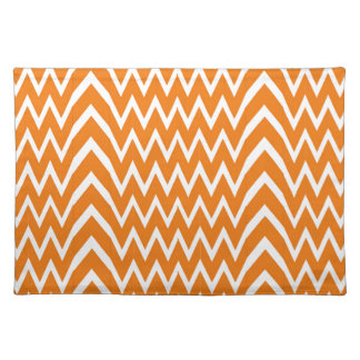 Orange Chevron Illusion Placemat