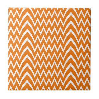 Orange Chevron Illusion Tile