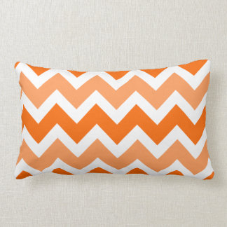 Orange Chevron Lumbar Pillow