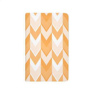 Orange Chevron Pattern. Journal