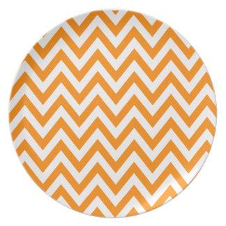 orange chevron plates