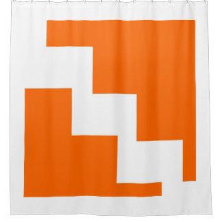 Orange Chevron Shower Curtain