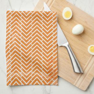 Orange Chevrons Tea Towel Kitchen Towel