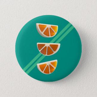 Orange Chew Candy 2 Inch Round Button