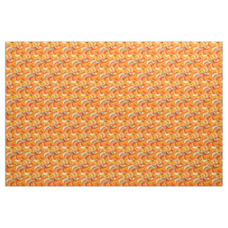 Orange chic fabric