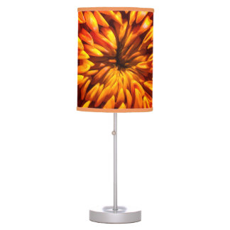 Orange Chrysanthemum Table Lamp